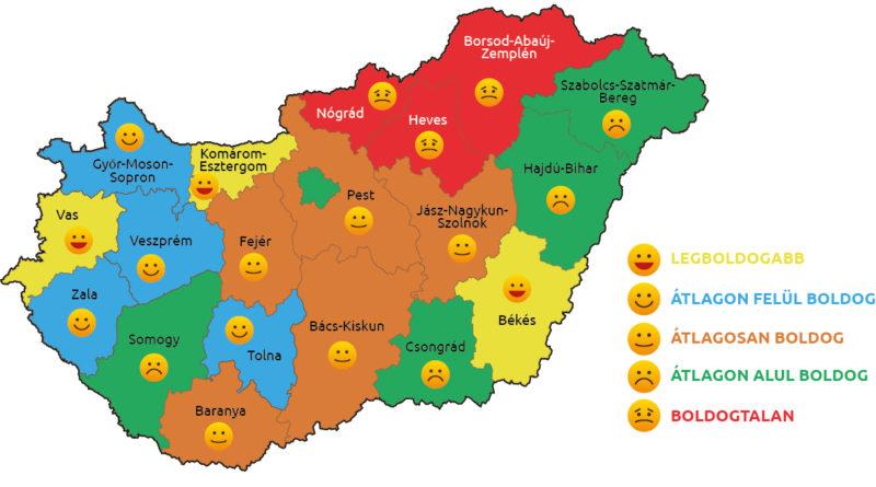 magyarország légtér térkép Újra elkészült Magyarország boldogság térképe! Nézzük, idén hova  magyarország légtér térkép