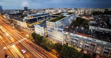 Stílusos épülettel bővült a Váci úti irodafolyosó