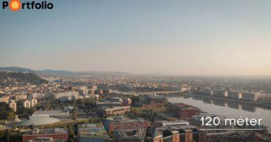 Nézz le Budapestre a MOL új székházának tetejéről