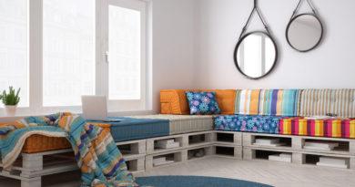 Csak 2 raklap kell hozzá, és némi fantázia: mesebeli nappali egyszerű alapanyagokból