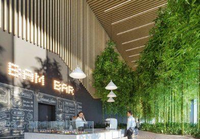 Botanikus kert, tetőtéri sportpálya, UV és antibakteriálisan szűrt levegő ebben az új pesti irodaházban