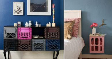 Így lesz menő bútor pár egyszerű műanyag ládából: modern, színes, látványos ötletek, saját kezűleg