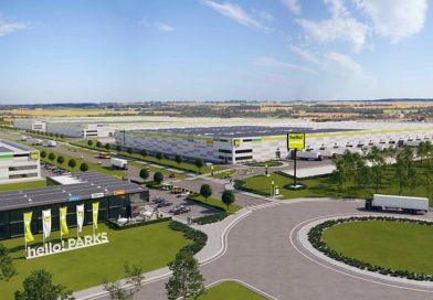 Elhelyezték a HelloParks Fót 45.000 m2 -es csarnokának első oszlopát